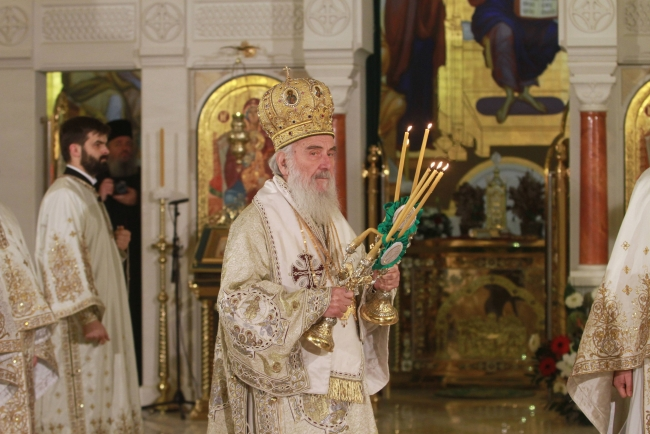 Patriarch Irinej Serves Christmas Liturgy at St. Sava Church
